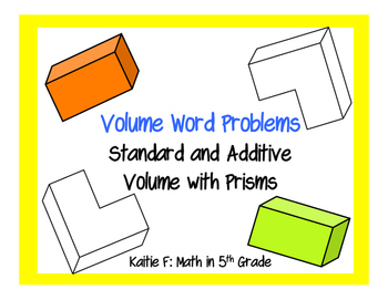 Volume Word Problems