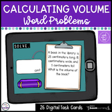 Volume Word Problems Boom Cards