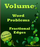 Volume Word Problems Fractional Edges