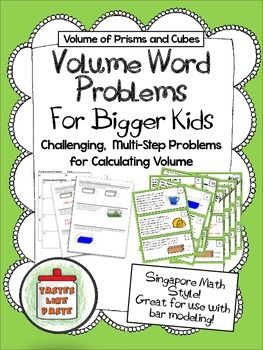 Volume Word Problems (Multi-Step)