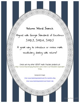 Volume Word Search