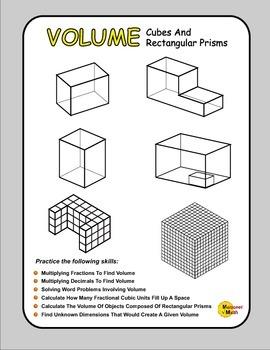 Volume Workbook - Cubes And Rectangular Prisms