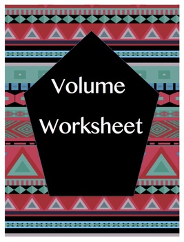 Volume Worksheet