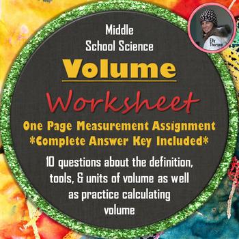 Volume Worksheet: A Science Measurement Resource