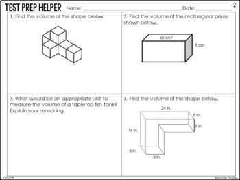 Volume and Additive Volume of Rectangular Prisms {Common Core Test Prep Helper}