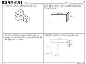 Volume and Additive Volume of Rectangular Prisms {Common Core Test Prep Helper}