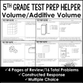 "Volume and Additive Volume of Rectangular Prisms ""No Prep"" Test Prep"