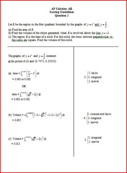 Volume and Area AP Questions (Calculator)
