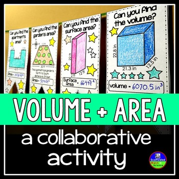 Volume and Surface Area Math Pennant Activity
