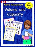 Volume and Capacity Activities - Grades 1 to 4 - Ontario C