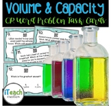 Volume and Capacity Measurement Task Cards with QR Codes
