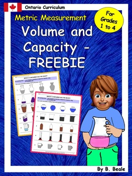 Volume and Capacity - Most and Least - 3 pages - FREEBIE
