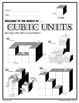Volume and Cubic Units Sampler (Common Core Standards)