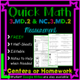 Volume and Mass Homework or Math Centers - 3.MD.2