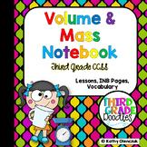 Volume and Mass Interactive Notebook - Grade 3 CCSS