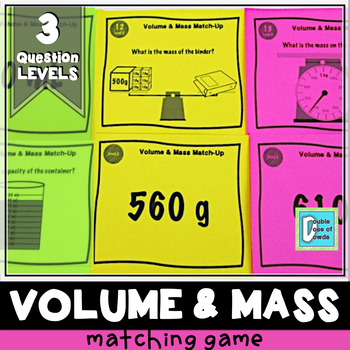 Volume and Mass Matching Game