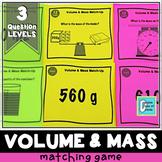 Metric Volume and Mass Matching Game