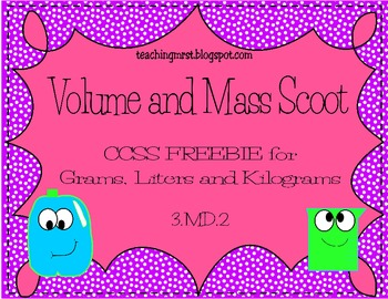 Volume and Mass Scoot~ CCSS