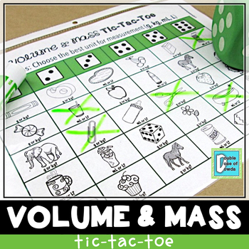 Volume and Mass Tic-Tac-Toe Game