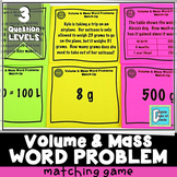 Volume and Mass Word Problem Matching Game