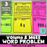 Kilograms, Grams, Liters, Milliliters Word Problem Matching Activity Game