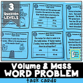 Metric Volume and Mass Word Problem Task Cards