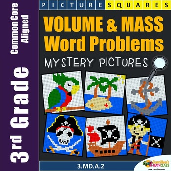 3rd Grade Word Problems - Volume and Mass Word Problems Wo