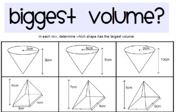 Cylinders, Spheres, Prisms, Pyramids - Volume & Surface Area Unit of Work