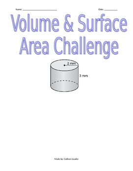 Volume and Surface Area Challenge