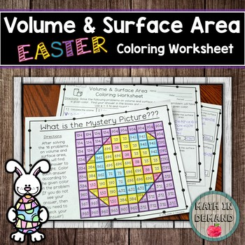 Volume and Surface Area Coloring Worksheet