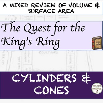 Volume and Surface Area Cylinders and Cones Quest Activity
