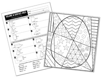 Volume and Surface Area Coloring Activity (Prisms, Pyramids, Cylinders, Cones)