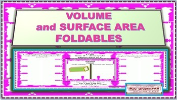 Volume and Surface Area Foldables