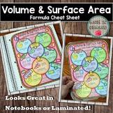 Volume and Surface Area Formula Cheat Sheet