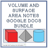 Volume and Surface Area Notes Google Doc for Distance Lear