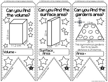 Volume and Surface Area Pennant {METRIC VERSION}