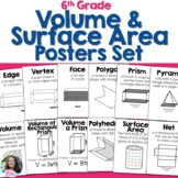 Volume and Surface Area Posters Set for 6th Grade Math Word Wall