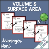 Volume and Surface Area Activity - Scavenger Hunt