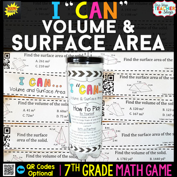 7th Grade Volume and Surface Area Game | 7th Grade Math Review