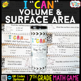 7th Grade Math Game   Volume & Surface Area