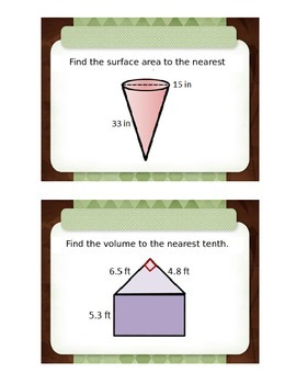 Volume and Surface Area Stations