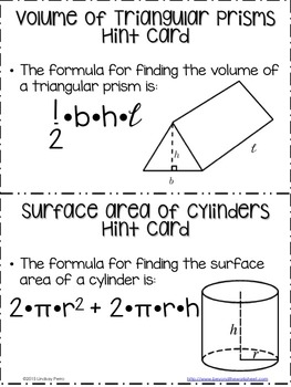 Volume and Surface Area with Fractions : Middle School Math Stations