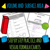 Volume and Surface Area Step by Step Practice and Visual Formula Charts
