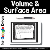 Volume and Surface Area Task Cards for Google Drive for Di