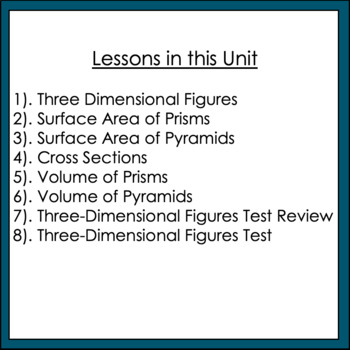 Volume and Surface Area Unit Common Core 7 G3 & G6