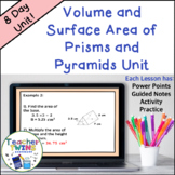 Volume and Surface Area of Prisms and Pyramids Unit