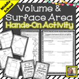 Volume and Surface Area of 3d Figures Hands On Activity