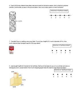 Volume and Surface Area of Composite 3D Figures