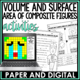 Volume and Surface Area of Composite 3D Figures Activity Pack