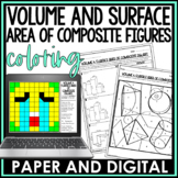 Volume and Surface Area of Composite Figures Coloring Page